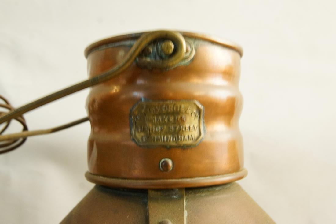 Collection of five antique kerosene lanterns - 6