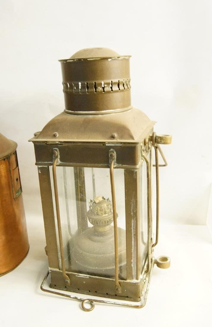 Collection of five antique kerosene lanterns - 7