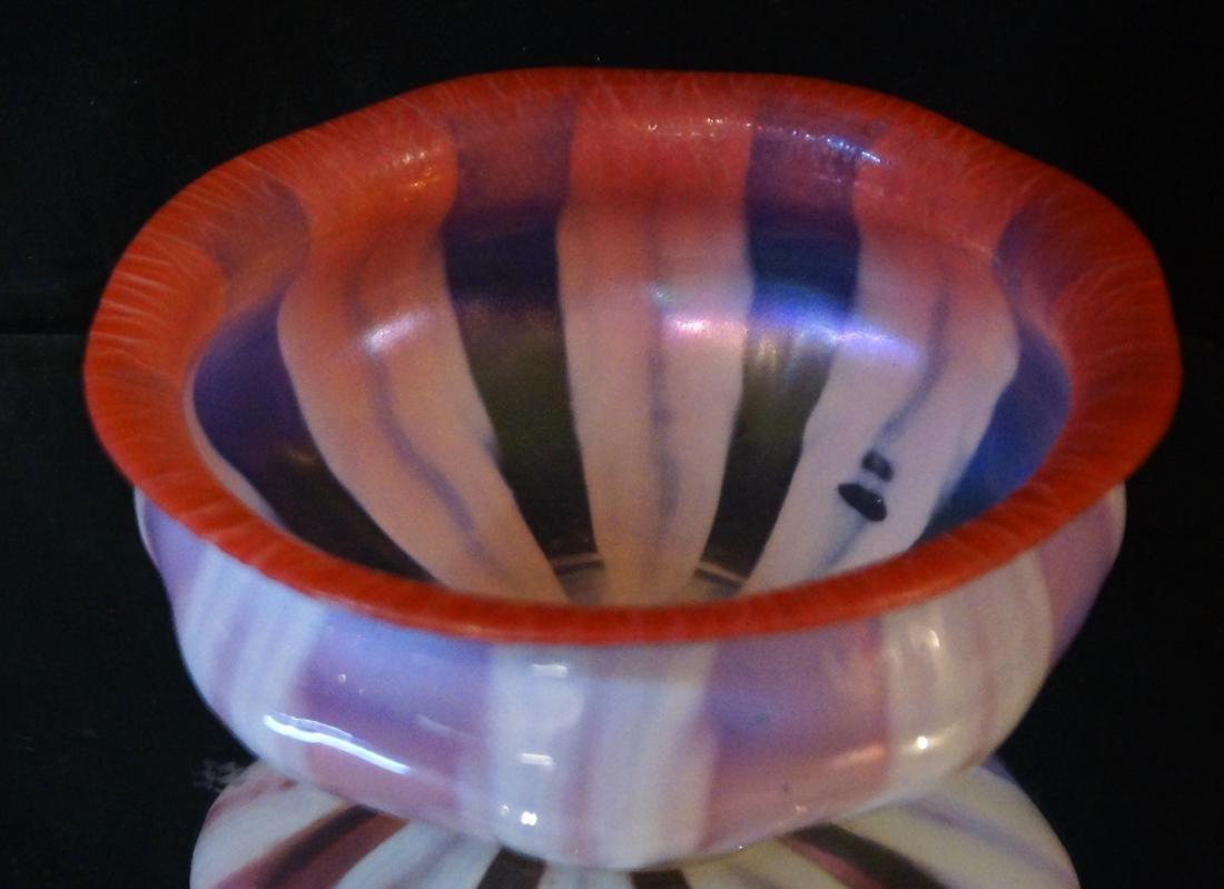 L.C. Tiffany Favrile glass bowl #1896 paper label