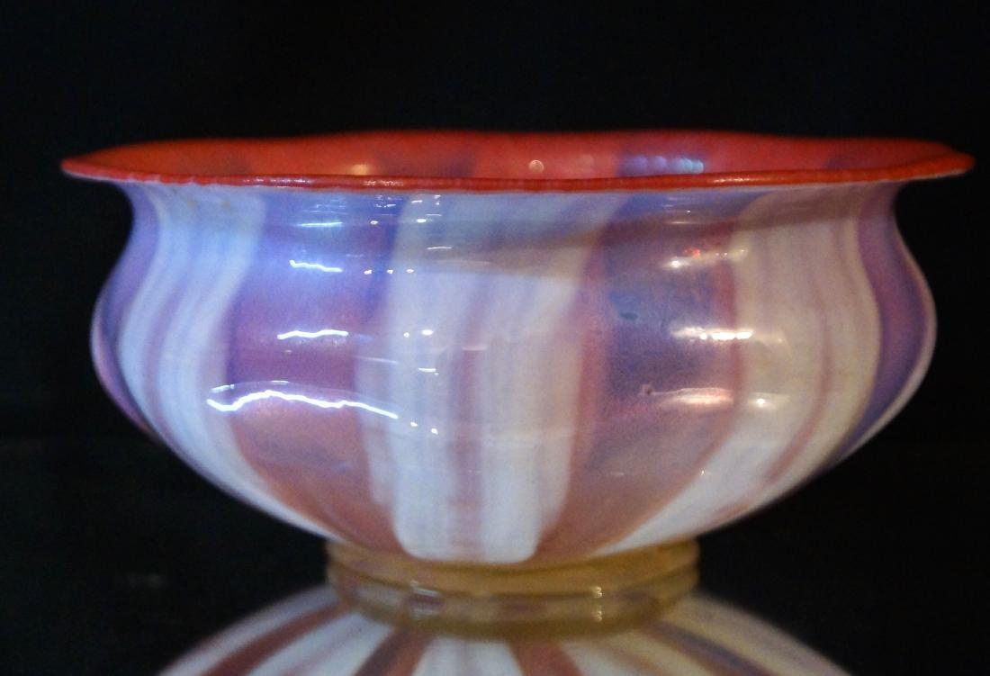 L.C. Tiffany Favrile glass bowl #1896 paper label - 2