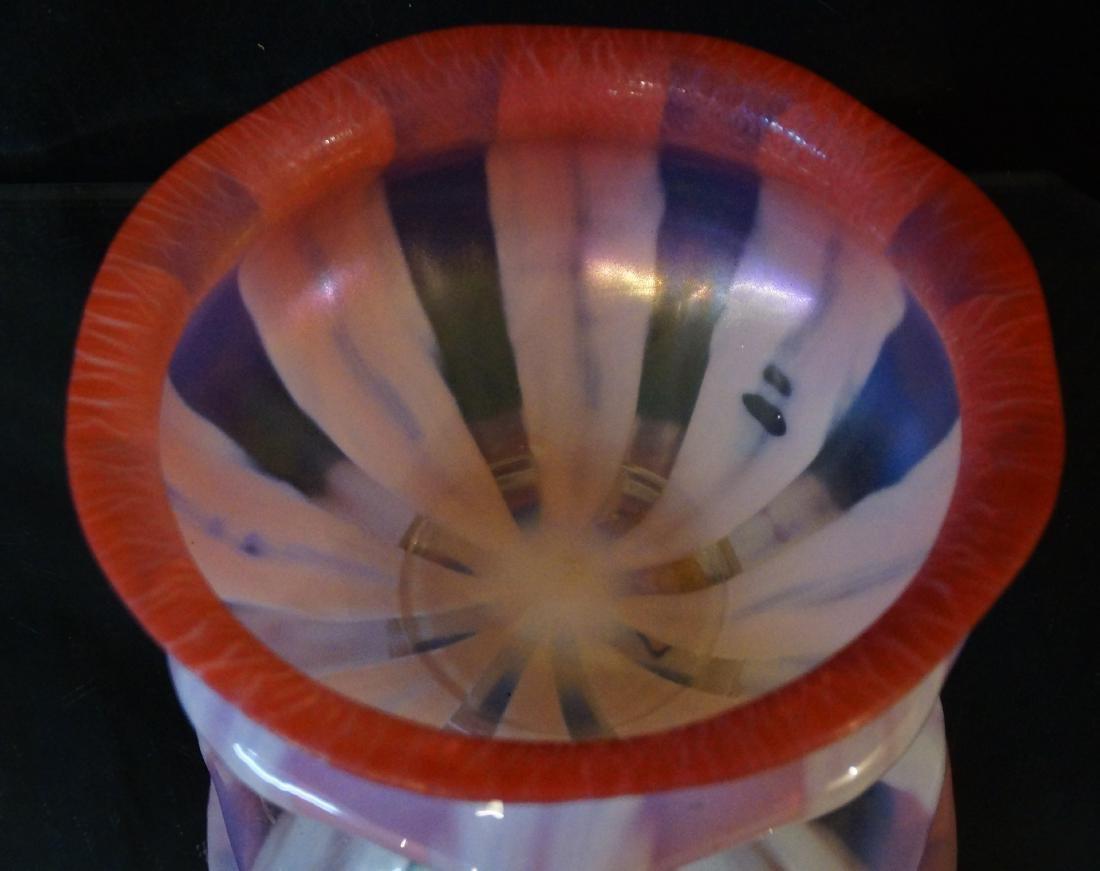 L.C. Tiffany Favrile glass bowl #1896 paper label - 3