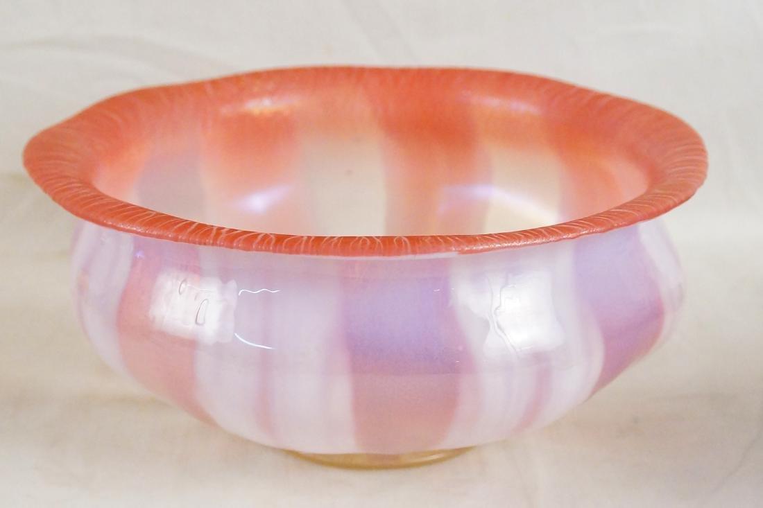 L.C. Tiffany Favrile glass bowl #1896 paper label - 5