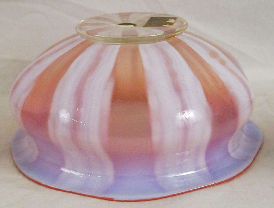 L.C. Tiffany Favrile glass bowl #1896 paper label - 7