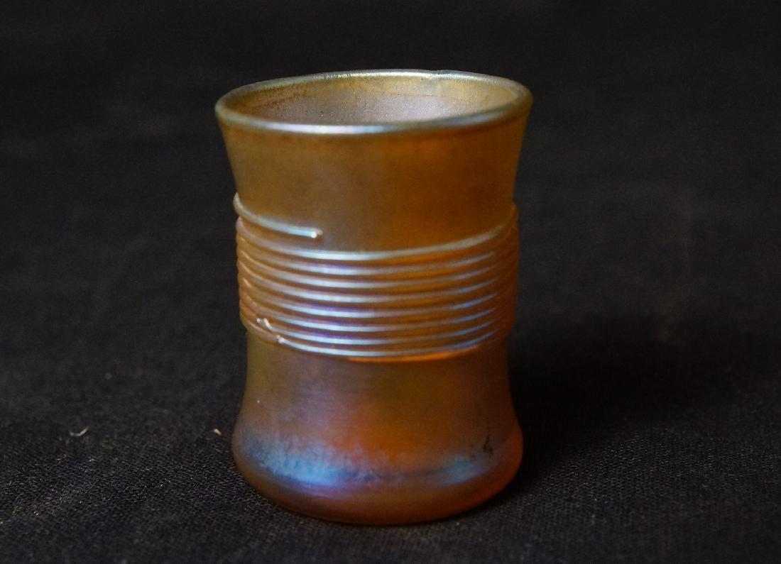 Louis Comfort Tiffany Favrile glass shot glass