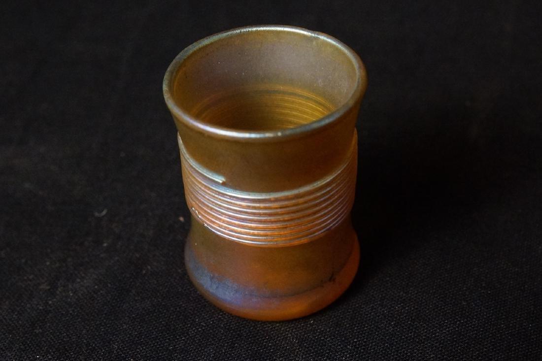 Louis Comfort Tiffany Favrile glass shot glass - 2