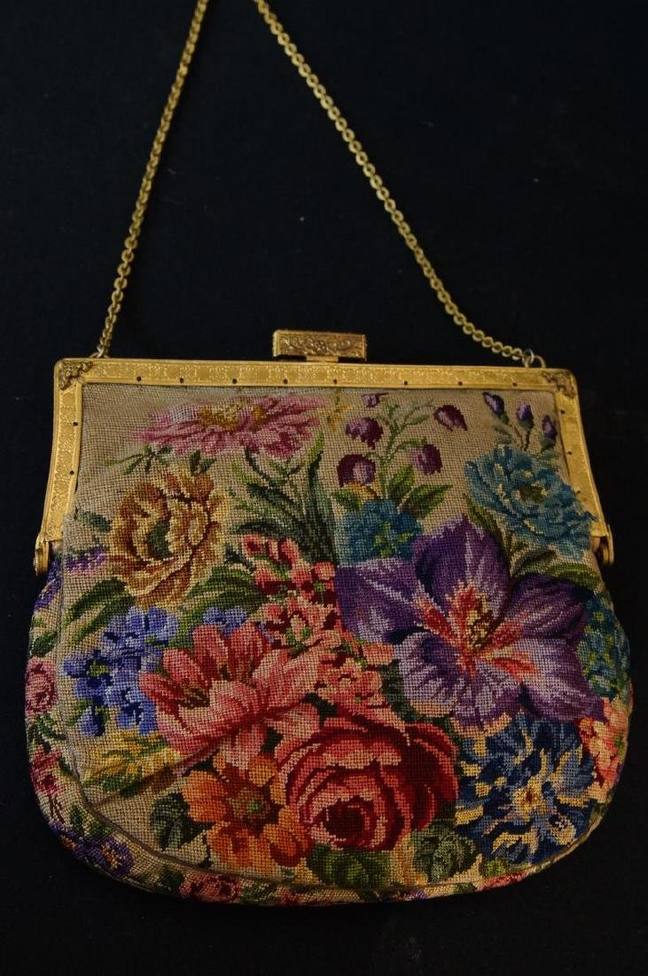 Antique French petit point and enameled purse - 5