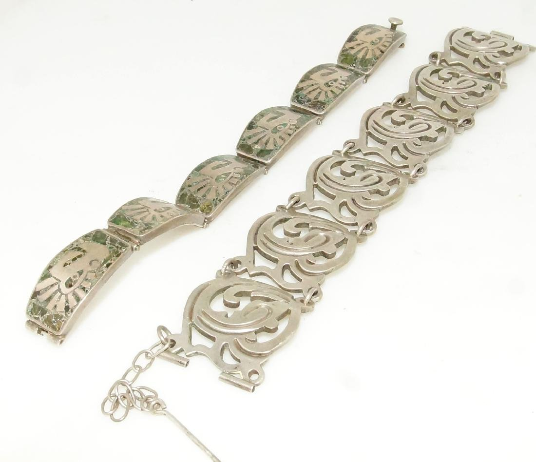 Taxco and Mexican silver bracelets - 2