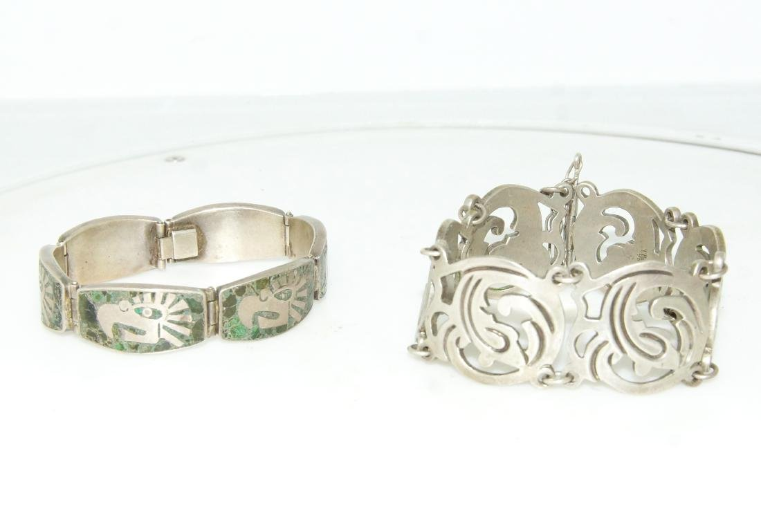 Taxco and Mexican silver bracelets - 2 - 3
