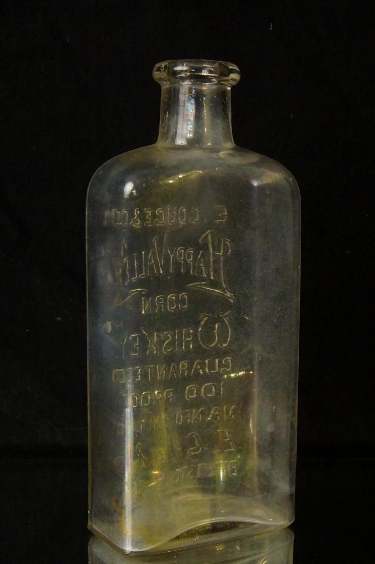 19th c. Happy Valley Corn whiskey Glass bottle - 5
