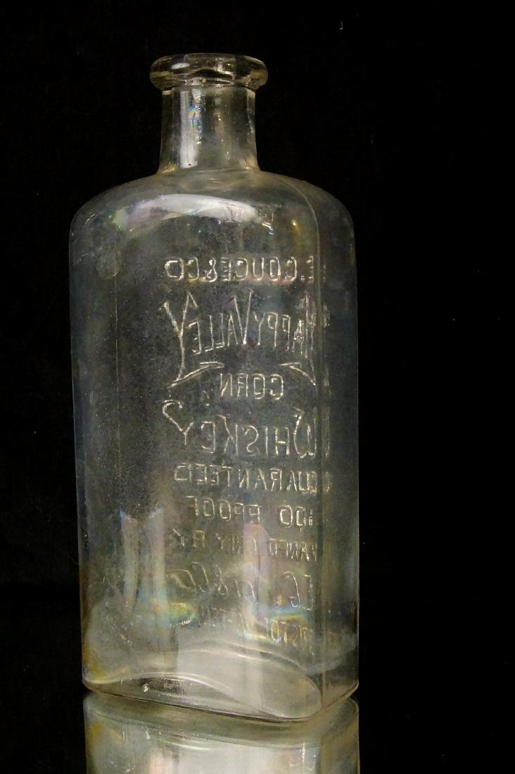 19th c. Happy Valley Corn whiskey Glass bottle - 6