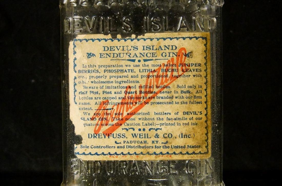 Devils' Island 1890 gin Bottle - 2