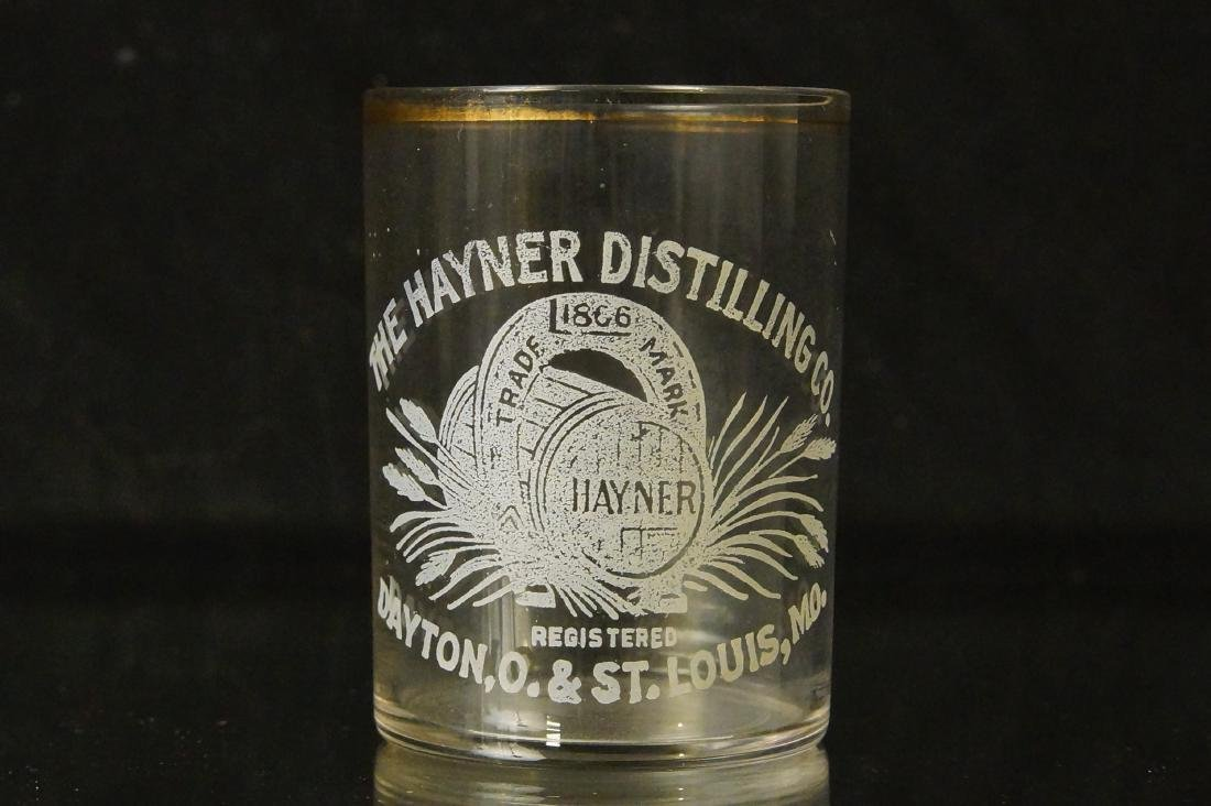Antique Hayner shot glass - St Louis MO.