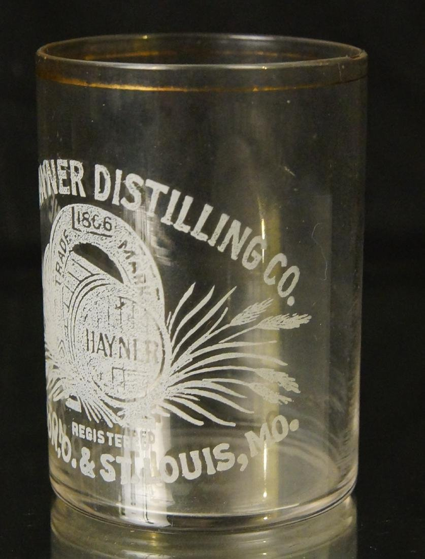 Antique Hayner shot glass - St Louis MO. - 6
