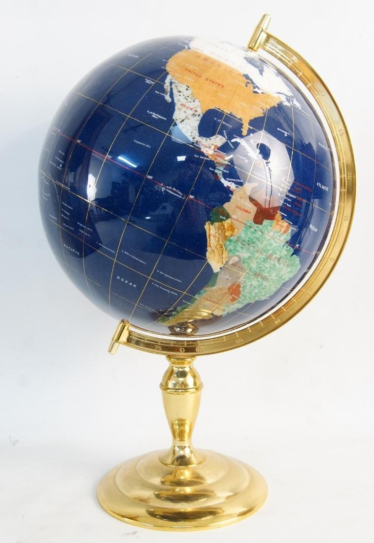 The Pearl Globe - Hard Stone & Brass World Globe