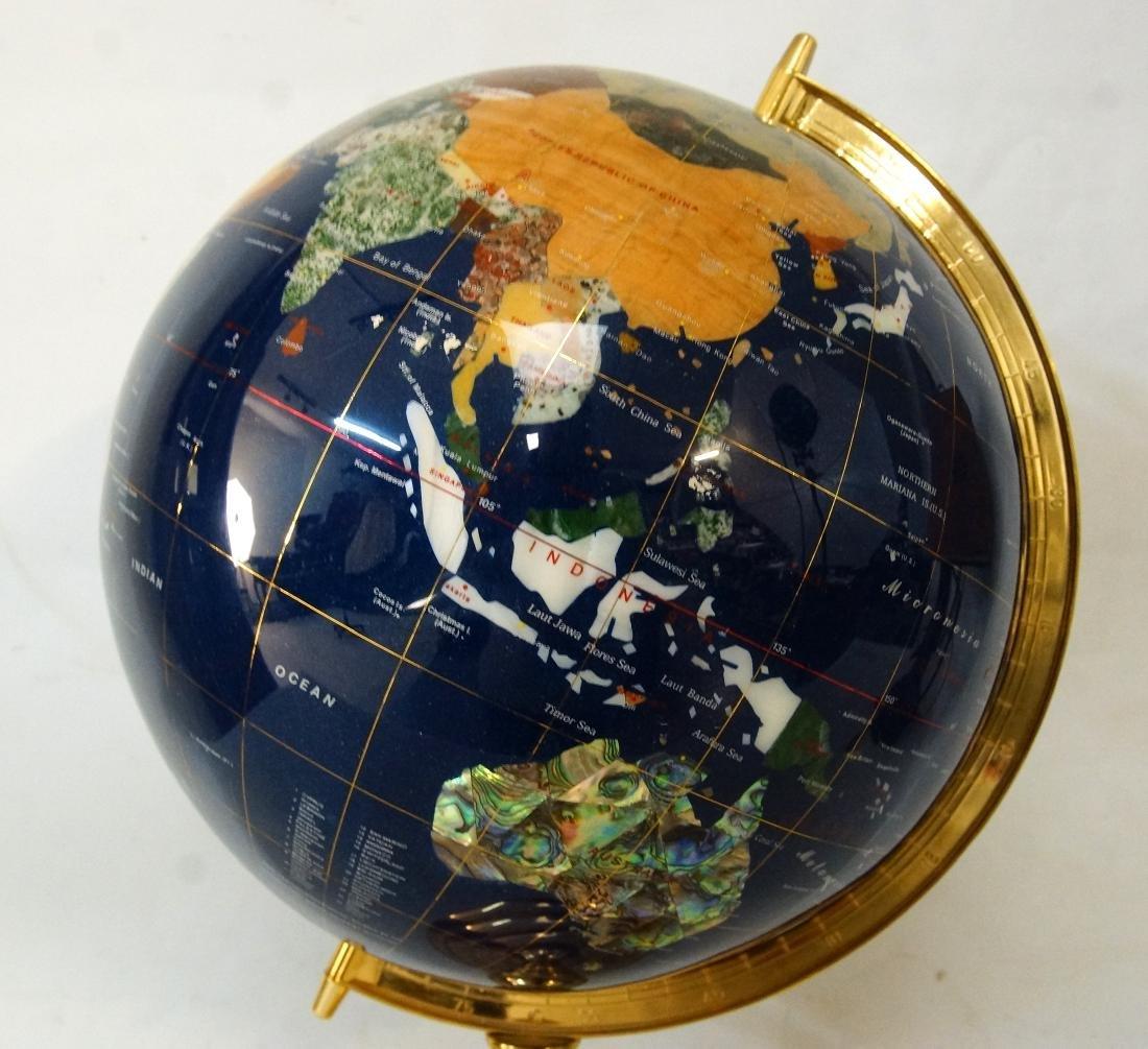 The Pearl Globe - Hard Stone & Brass World Globe - 2