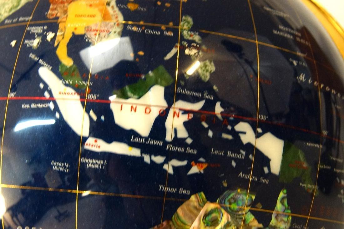 The Pearl Globe - Hard Stone & Brass World Globe - 4