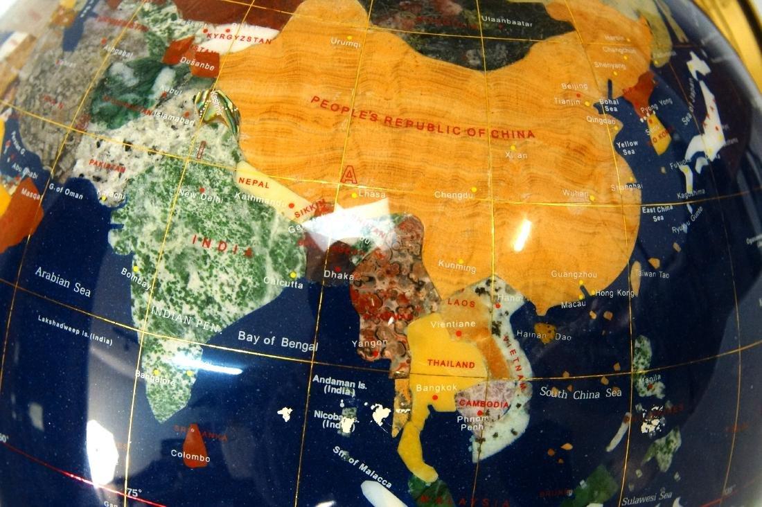 The Pearl Globe - Hard Stone & Brass World Globe - 5