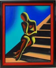 Mark Kostabi (1960) oil on canvas -2001