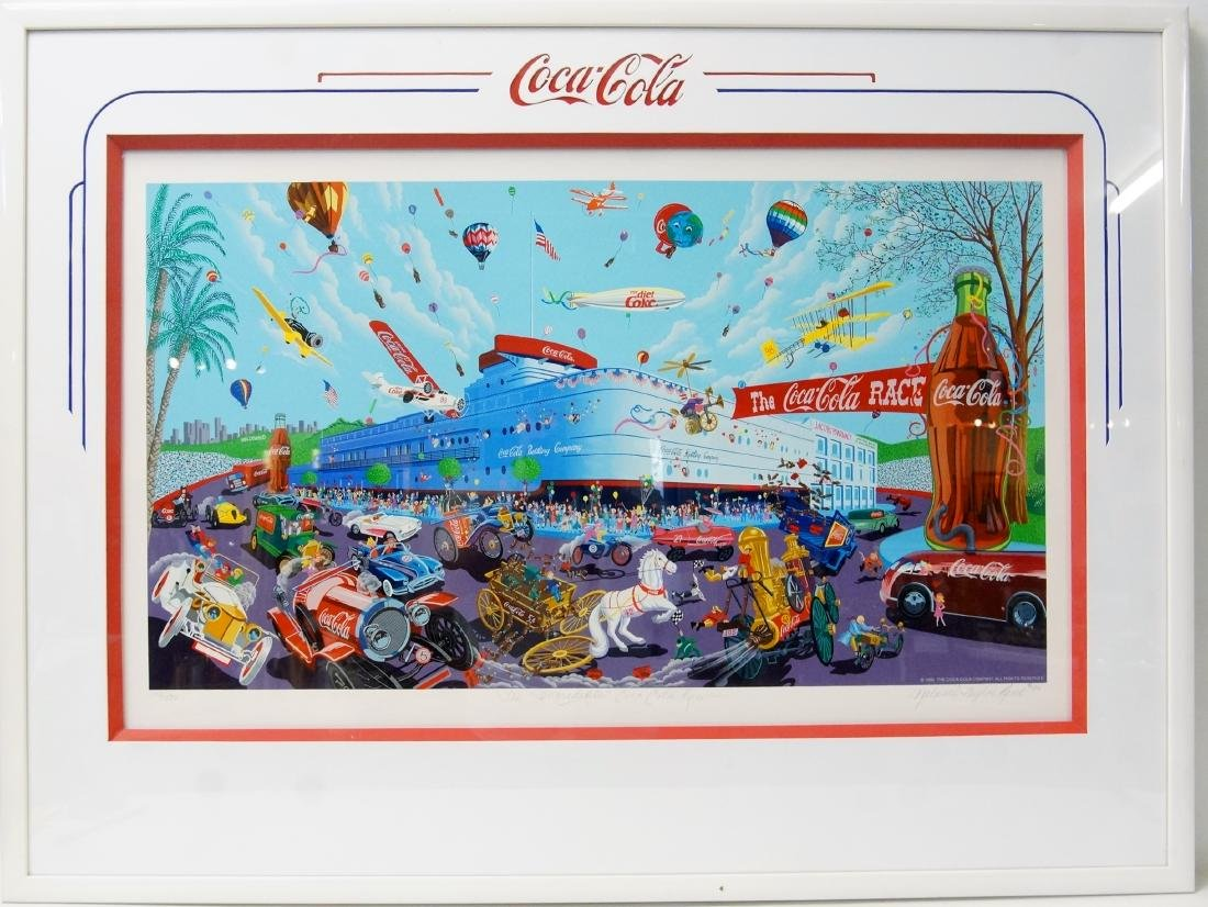 Melanie Taylor Kent Lmtd. Ed. Coca Cola Lithograph
