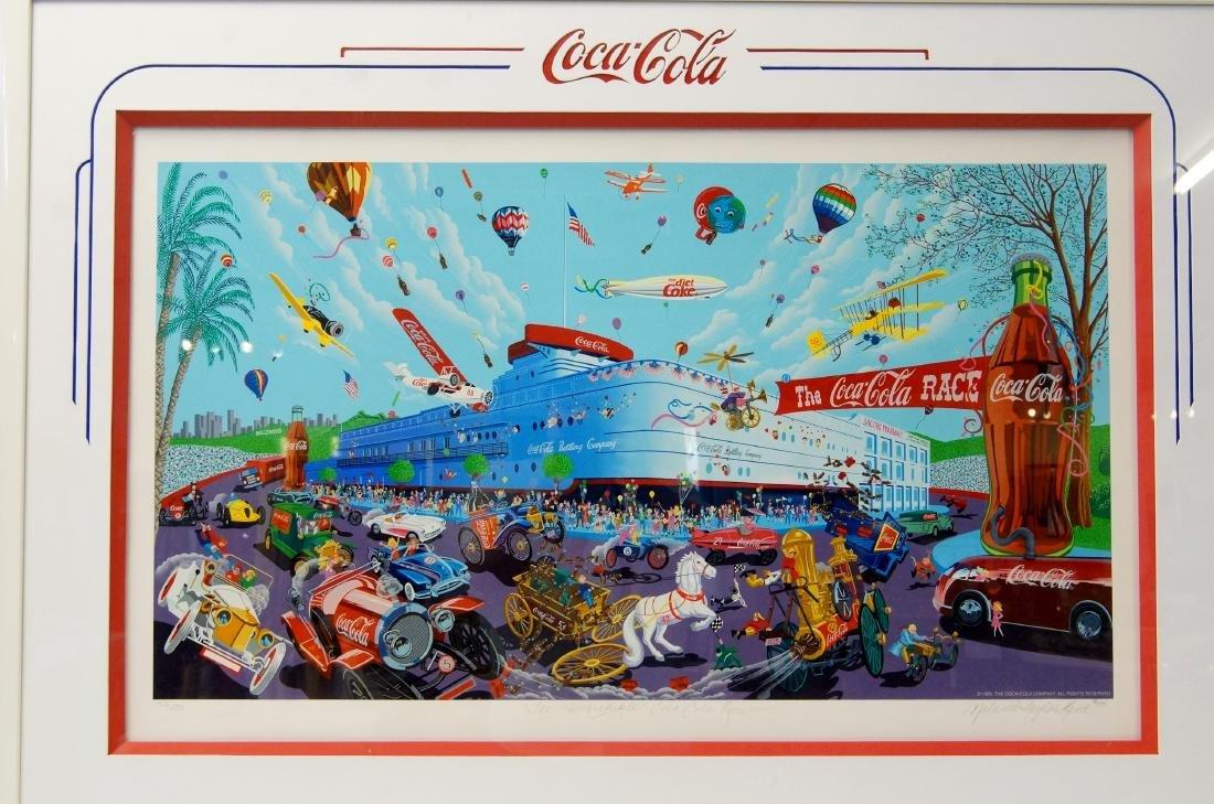 Melanie Taylor Kent Lmtd. Ed. Coca Cola Lithograph - 2