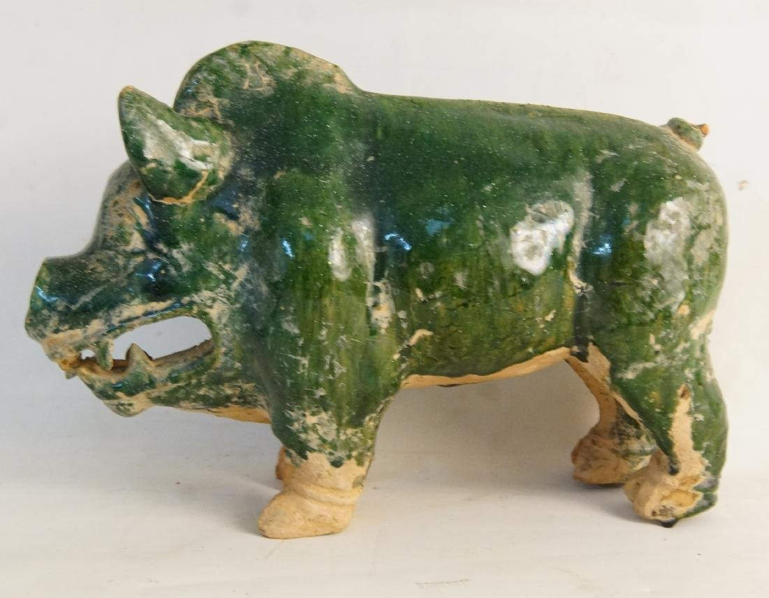 Ching dynasty Ceramic Boar-year of the pig - 4