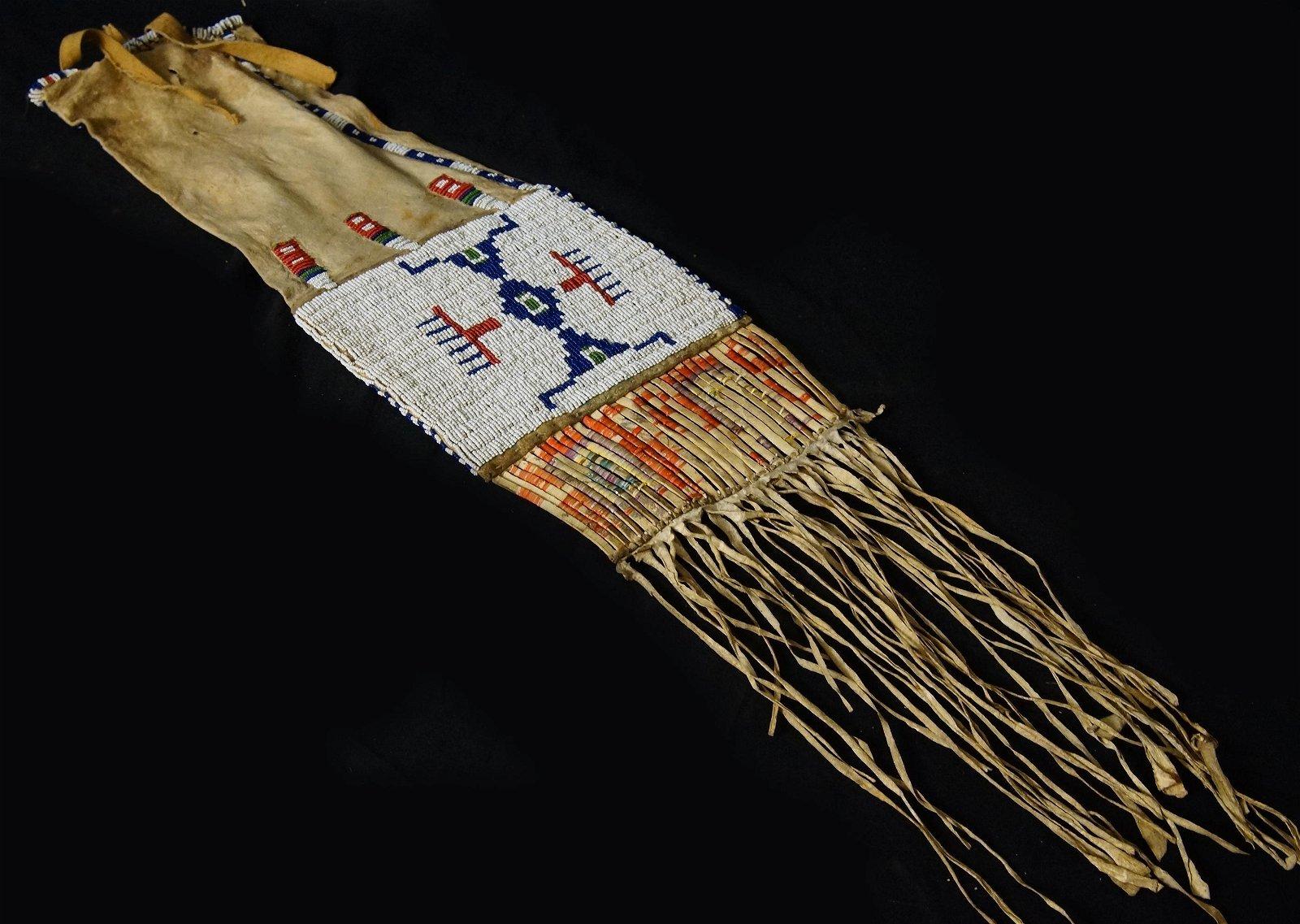 Lakota Sioux beaded pipe bag ca 1900