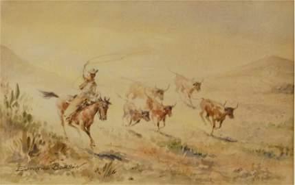 Edward Borein (1872-1945) original Watercolor