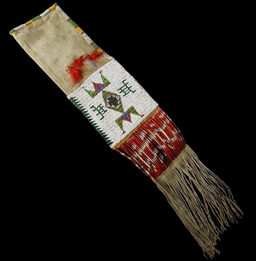 Lakota Sioux beaded pipe bag circa 1900