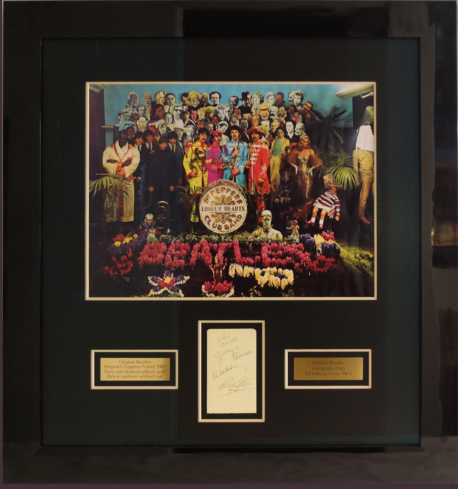 Rare 1967 Beatles Poster with Autographs