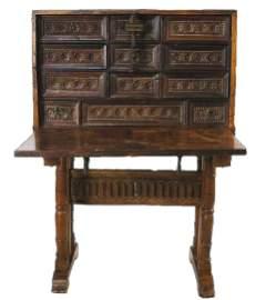 17th c. Baroque Spanish Vargueno desk