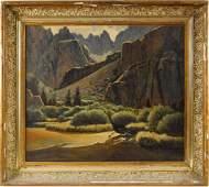 Robert Clunie (1895-1984) Oil on Canvas Landscape
