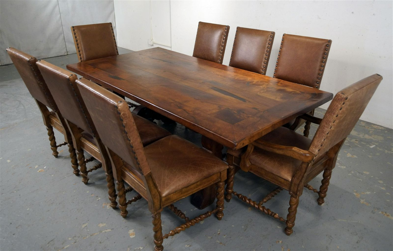 Outstanding Spanish Dining Table With 8 Chairs Aug 30 2020 California Auctioneers In Ca