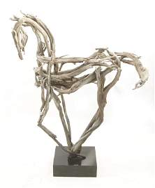 "Brena Tyler 40"" bronze horse sculpture Fire Dances"