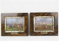 Henry Alken (1785-1851) Oil on panel horse races
