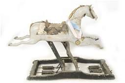 19th c folk Wooden Childs Hobby Horse Glider