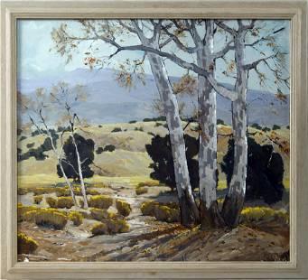 Douglas Shively Oil on Board landscape