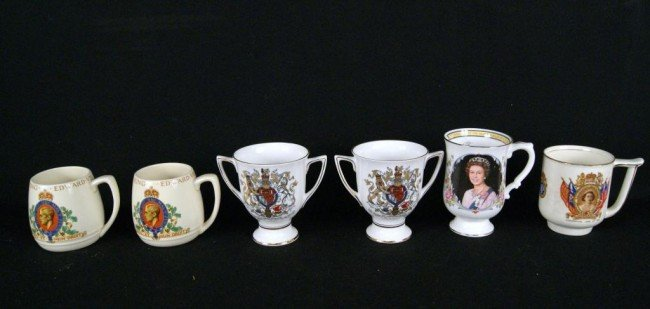 3: English porcelain Royalty cups - 6