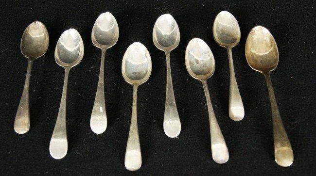 10: English silver spoons - 8pcs   app 5oz