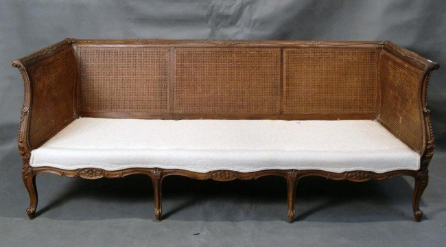 305 antique french carved cane back sofa rh liveauctioneers com