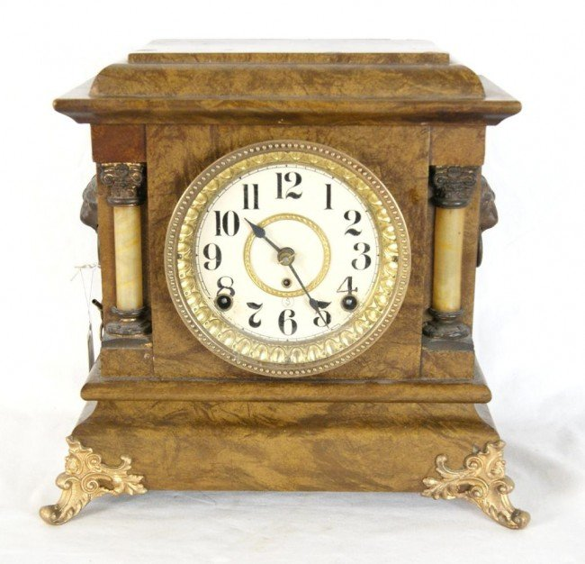 17: American Seth Thomas mantle clock (no back)