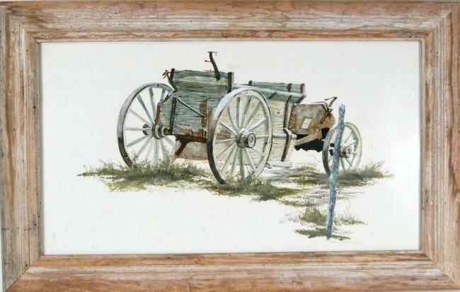 "86: Terry Pardue wagon acrylic 24""x30"" 1981"
