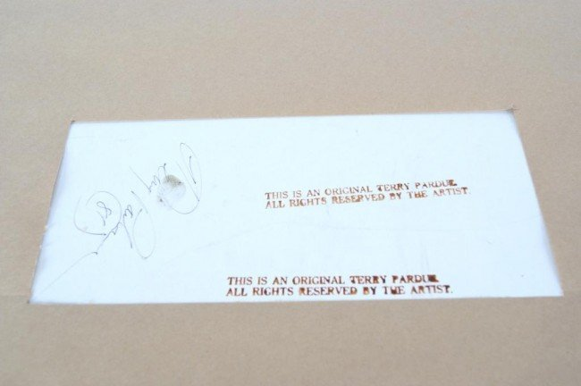 "86: Terry Pardue wagon acrylic 24""x30"" 1981 - 4"