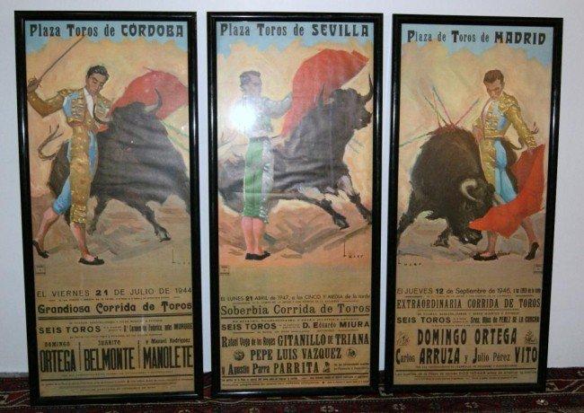 152A: 3 Vintage Spanish Bullfighting Posters - 2