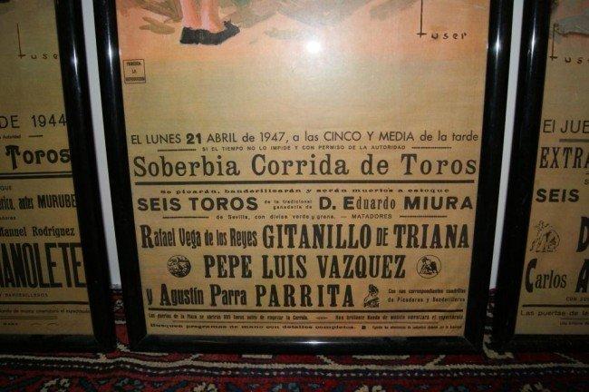 152A: 3 Vintage Spanish Bullfighting Posters - 3