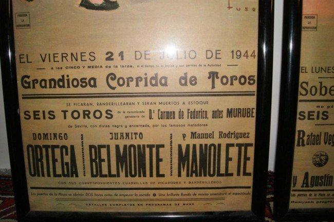 152A: 3 Vintage Spanish Bullfighting Posters - 4