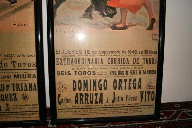 152A: 3 Vintage Spanish Bullfighting Posters - 6