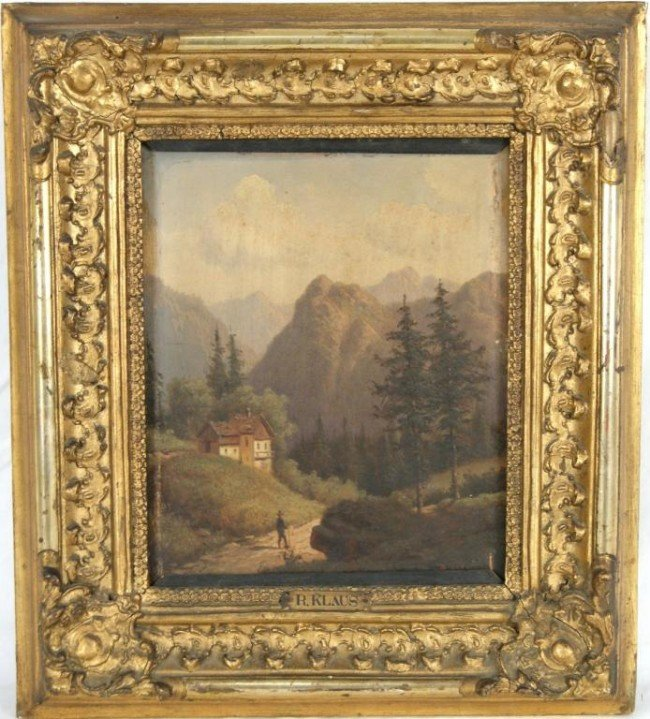 12: K. Klaus Austrian 19th c painting 10x8 on panel