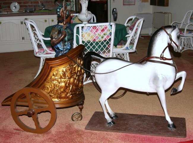 21: Rider & Fancy Chariot with Persian Horse fancy brid