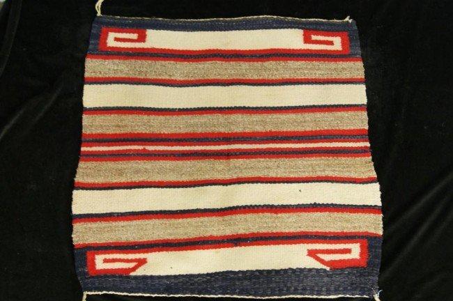 """3: Navajo Saddle blanket - 31"""" x 31"""" Provenance: Robert"""