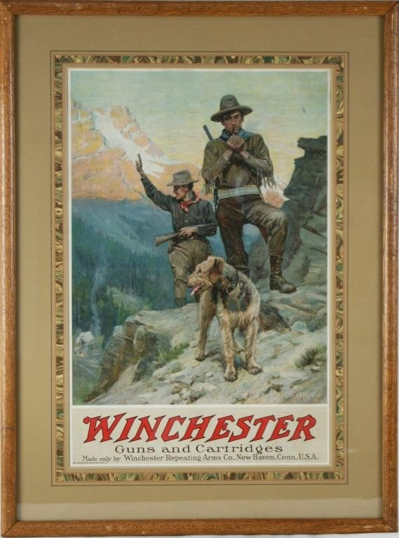 19: Vintage Winchester advertising poster